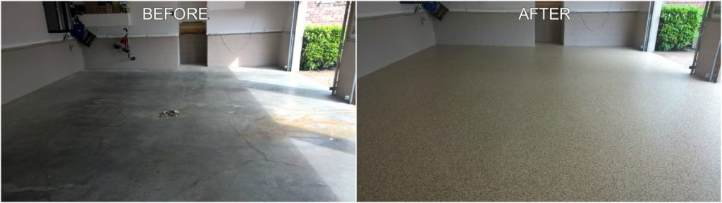 Concrete Floor Coating Project - Before & After