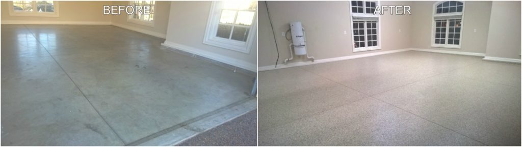 Epoxy Floor Installation - Before & After