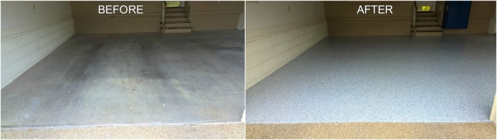 Garage Coating Project - Before & After
