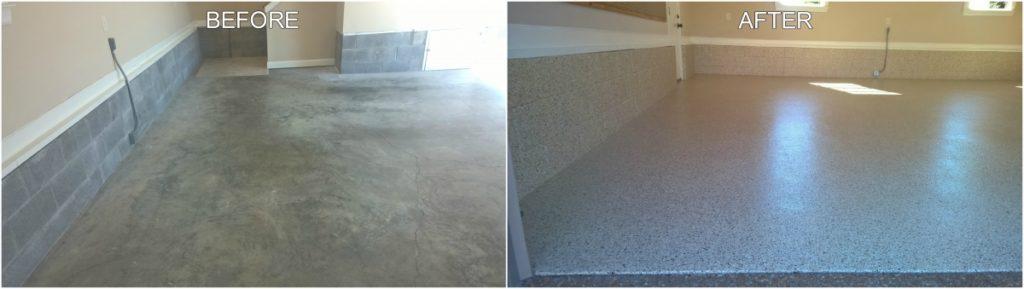Garage Floor Coating Project - Before & After