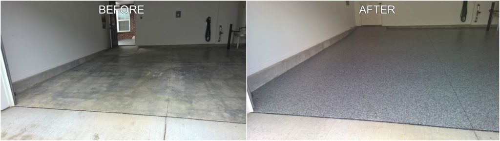 Garage Floor Makeover - Before & After