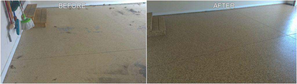 Garage Fooring - Before & After