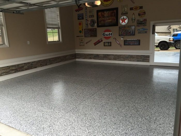 New Garage Floor Installation